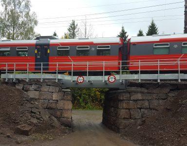 Brobyte Hakadal stasjon, Norge