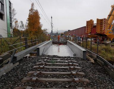 Jernbanebru over Semselva, Norge